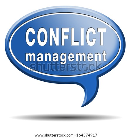 conflict management in business at work or between couple with different interest solve the problem and find resolution - stock photo
