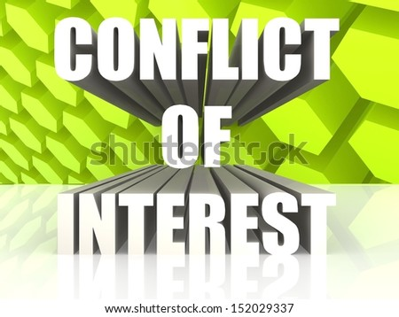 Conflict of Interest - stock photo