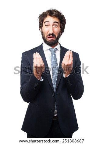 confused businessman sign - stock photo