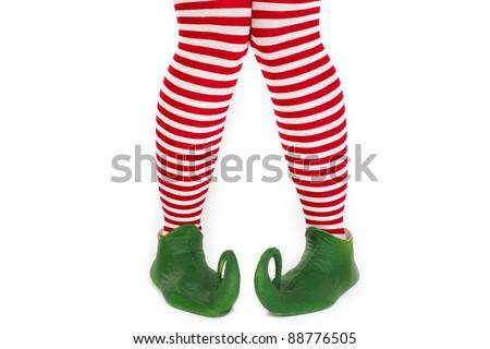 Confused elf's legs - stock photo
