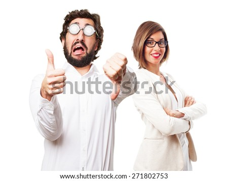confused fool man - stock photo