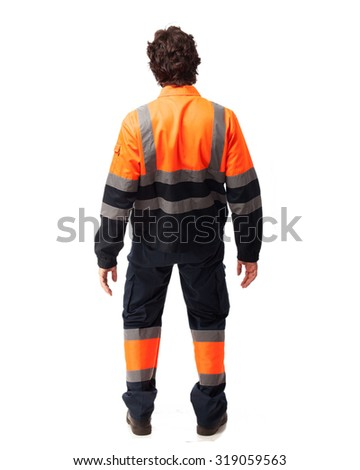 confused worker man - stock photo