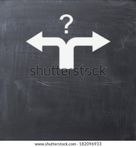 confusion about right direction - stock photo