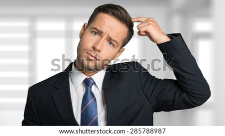 Confusion, Men, Business. - stock photo