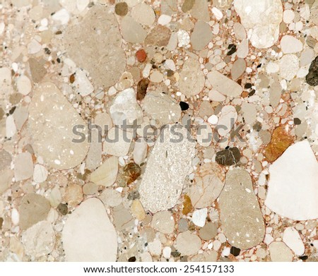 Conglomerate rock - stock photo