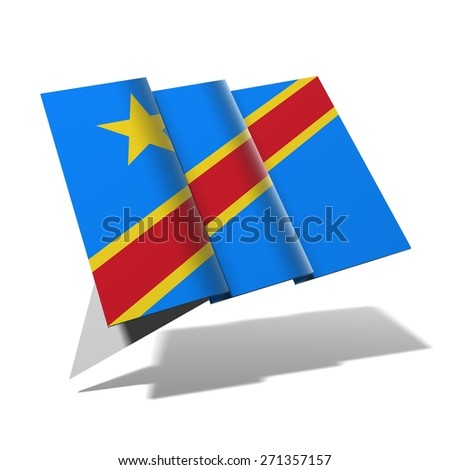 Congo Democratic Republic flag 3D banner - stock photo
