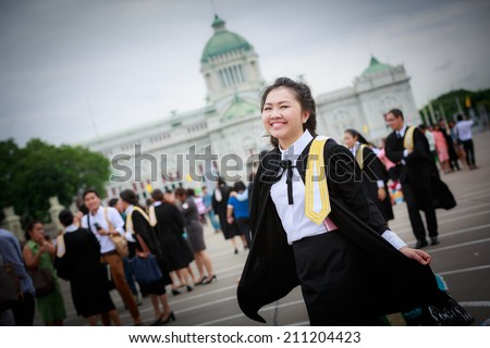 Congratulation thailand Student in bangkok Thailand - stock photo