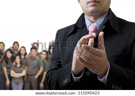 Congratulations on your success in business - stock photo