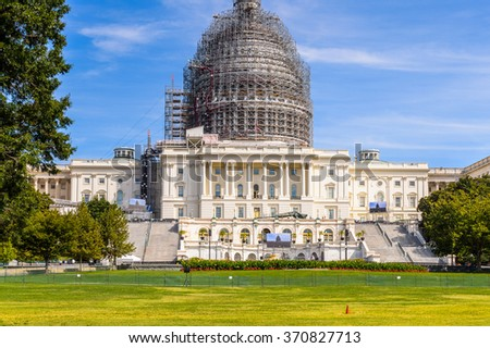 Congress Building, Capitol Building in Washington DC, United States of America - stock photo