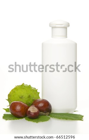 Conker tube waiting for your description on white background (medical context) - stock photo
