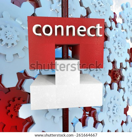 Connect - 3d rendered illustration - stock photo