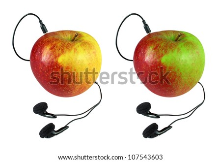 Connected apple - stock photo