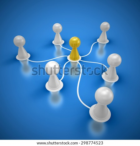 connected friends concept 1 - stock photo
