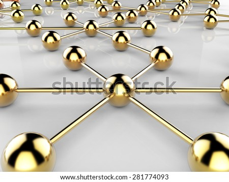 Connected Network Meaning Global Communications And Networking - stock photo