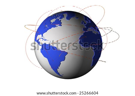 connected world - stock photo