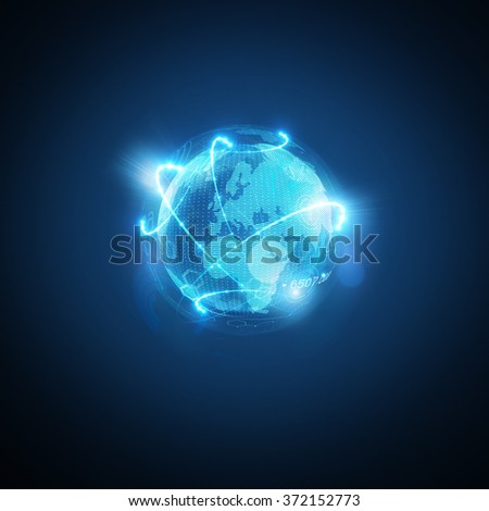 Connected World. Conceptual business  illustration.  - stock photo