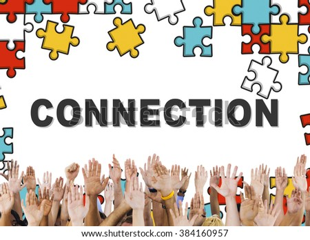 Connection Social Media Online Unity Concept - stock photo