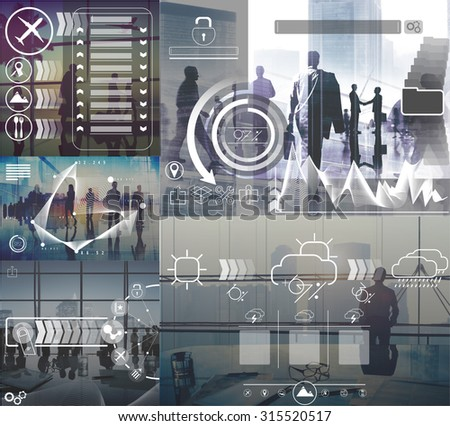 Connection Technology Interface Business Concept - stock photo