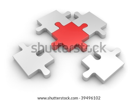 Connection to main part - stock photo