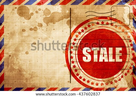 constantly, red grunge stamp on an airmail background - stock photo