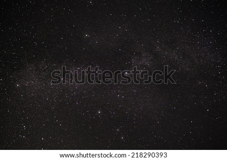 Constellation Swan and our galaxy the Milky Way - stock photo