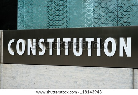 Constitution concepts of rights, law, and freedom - stock photo