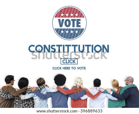 Constitution Registration Regulations Rules Principles Concept - stock photo