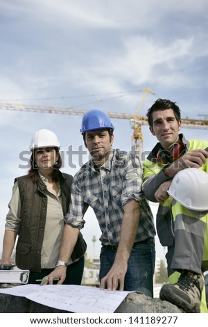 Construction colleagues - stock photo