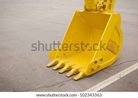 construction concept with bucket, selective focus - stock photo