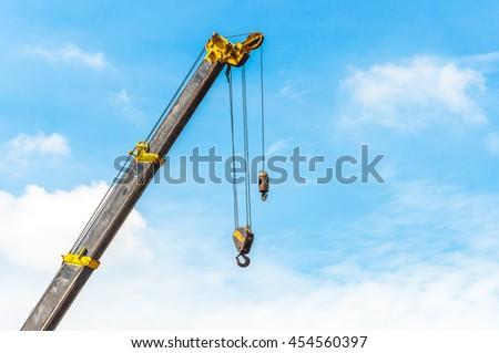 Construction , Crane Car Construction , Crane Construction - stock photo