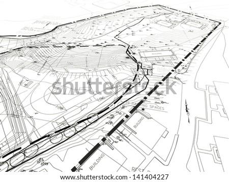 Construction Document - stock photo