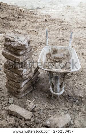 construction equipments - stock photo
