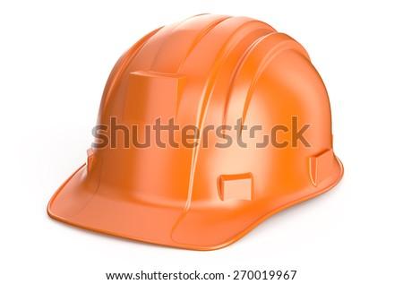Construction Hard Hat isolated on white background - stock photo