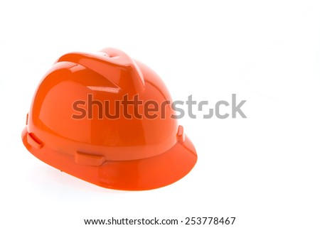 Construction hard hat - safety helmet isolated on white background - stock photo