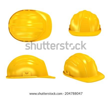 Construction Helmet various views - stock photo