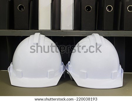 construction helmets - stock photo