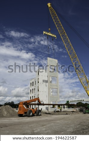 Construction in Melbourne, Florida. - stock photo