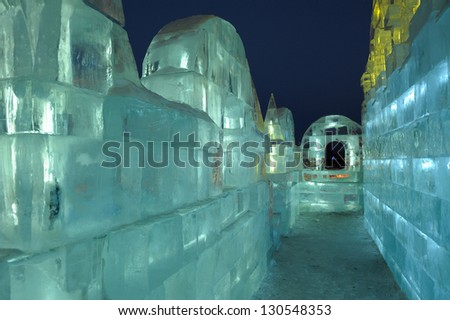 Construction made with ice - stock photo