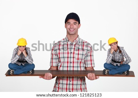 Construction manager - stock photo