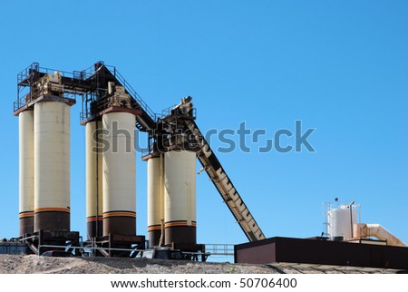 Construction materials plant detail - stock photo