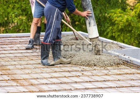 construction of a house - stock photo