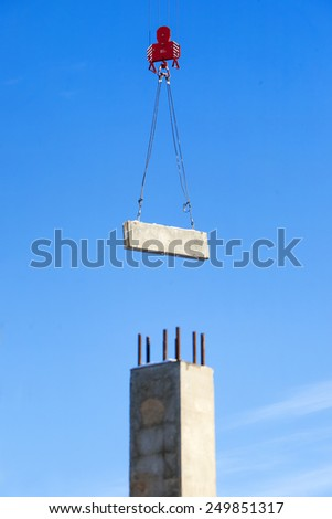 Construction of high-rise residential building - stock photo