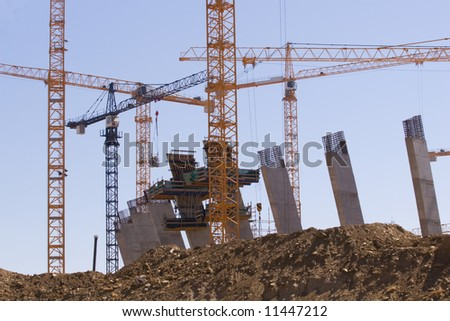 Construction of the new Olympic Stadium,Cape Town, South Africa - stock photo