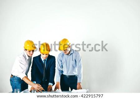 Construction partners - stock photo