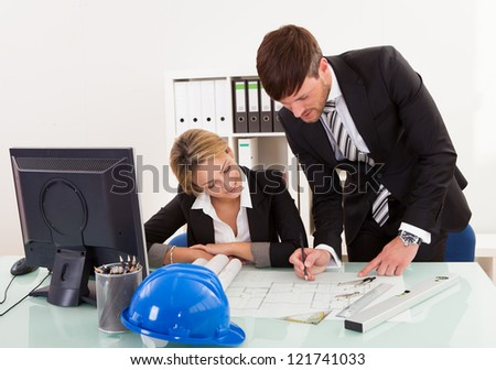 Construction plans revised and signed for formal submission. - stock photo