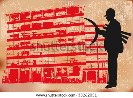 Construction Project Bitmap Background - stock photo