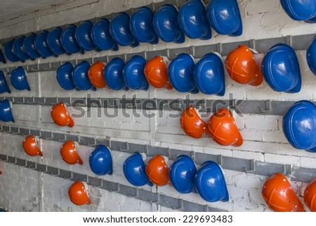 construction safety helmet - stock photo