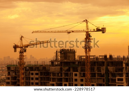 Construction site. - stock photo