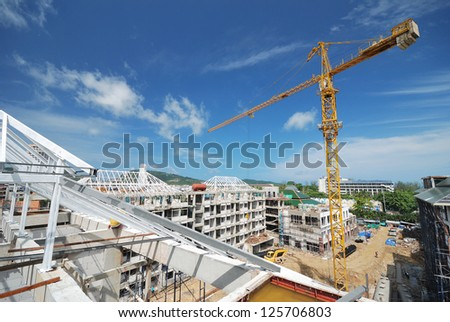 construction  site is not finished. - stock photo