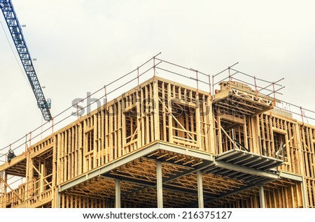 Construction site on new building  - stock photo